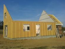 Isolation exterieur maison ossature bois