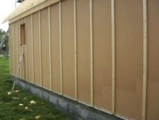 Isolation exterieure de la structure bois