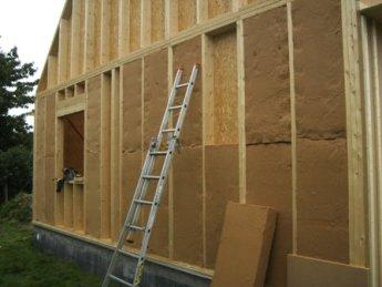 Isolation thermique de construction bois pose des isolants - Isolation exterieure laine de bois ...