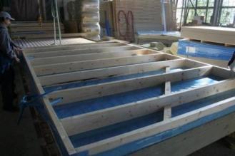 Kit ossature bois assemble des murs de en usine