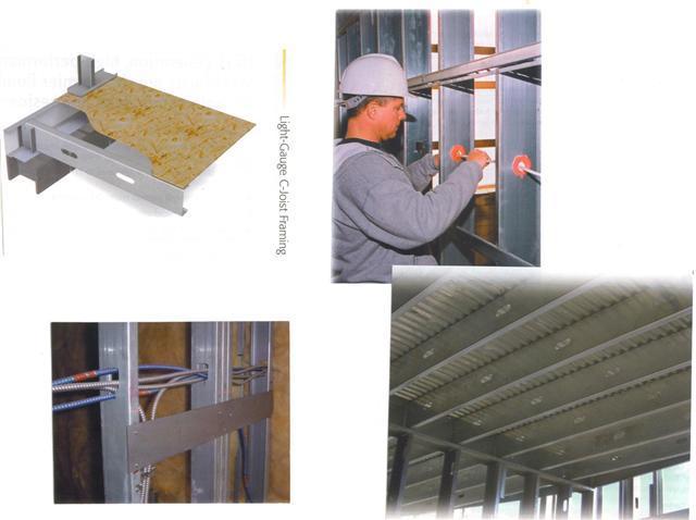 L installation des fluides sont incorpores dans les murs metallique