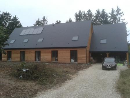 La naissance d une maison construite en bois