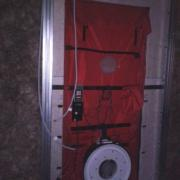 La porte etanche prete pour le teste d etancheite