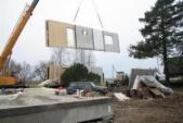 Livraison et montage des murs kit autoconstruction ossature bois