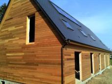 Maison bois bardage red ced construction ossature bois