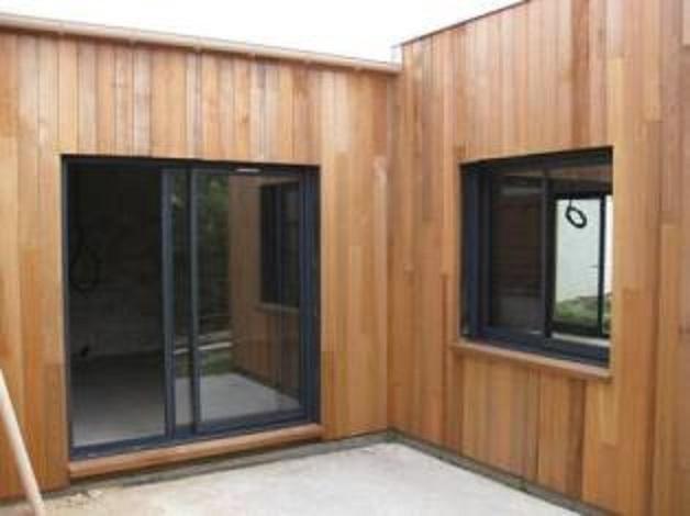 Photos de maison bois construite en ossature bois for Agrandissement maison ossature metallique