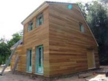 Maison construite en ossature bois avec etage