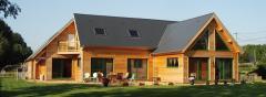 Maison contemporaine en ossature bois