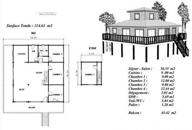 Maison en bois teck