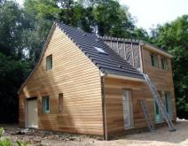 Maison ossature bois construite en Seine-maritime