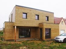 Maison toit plat en bois