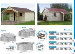 Modèle Antibes garage en bois fabrique en ossature bois