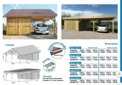 Modele chamonix garage fabrique en ossature bois