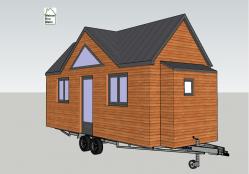 Modèle de plan Tiny house pour maison d'amis