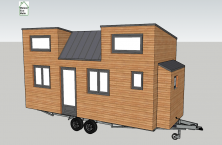 Modéle de plan tiny house Pauline