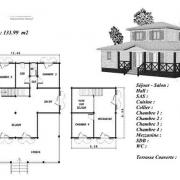 Modele plan maison en bois erable