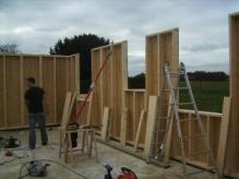 Montage murs en ossature bois