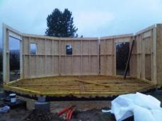 Montages des murs en ossature bois