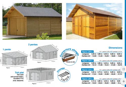 Morzine garage en ossature bois