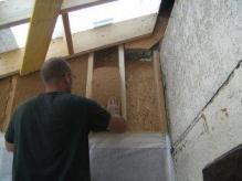 Mur en ossature bois pour construction tiny house