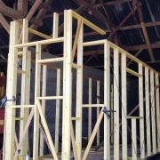 Murs de tiny house en ossature bois