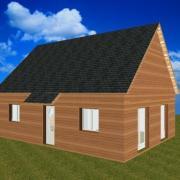 Pavillon bois combles amenages