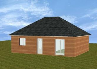 Pavillon en bois plain pied 2 chambres