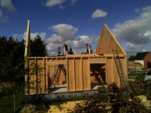 Photo de construction d une maison bois