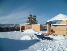 Photo sous la neige habitation legere loisirs