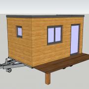 Plan 3d agrandissement maison sur roues