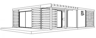 Plan 3d hll cottage 62m