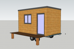 Plan agrandissement maison roulant type tiny house