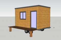 Plan agrandissement maison roulant type Tiny house