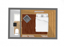 Plan aménagement agrandissement roulant chambre