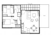 Plan cottage hll 62m