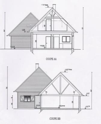 Permis de construire dossier et informations utiles - Plan de coupe maison ...