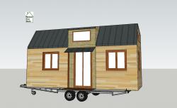 Plan de façade en 3D tiny house modèle Éva