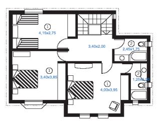Plan de maison metal marina duplex etage