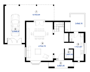 ... Plan De Maison Metal Marina Duplex Rdc