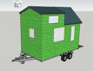 Plan de tiny house modèle étudiant en vert