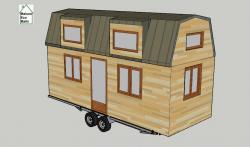 Plan en 3D de la Tiny house modèle Lola
