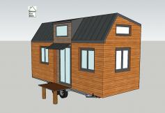 Plan en 3D tiny house modèle Éva