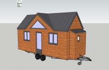 Plan en 3D tiny house modèle Lili