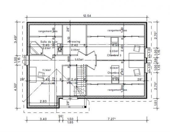 Plan etage habitation val d oise