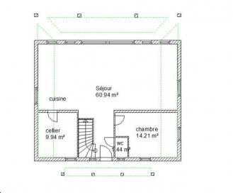 Plan habitation chartres rdc