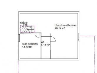 Plan habitation etage nina