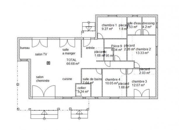 Plan interieur habitation modele velda