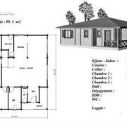 Plan maison bois acajou