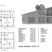 Plan maison bois cedre