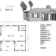 Plan maison bois modele pin